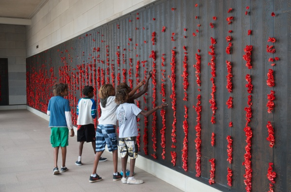 Indigenous kids @ National War Memorial