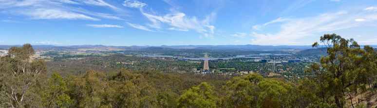 View from Mt Ainslie, Canberra