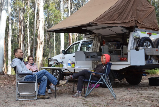 It can be cold up there. Honeysuckle Campground, Namadgi ACT