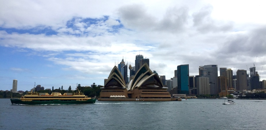 Two of Sydney's icons. The Opera House and the Manly ferry