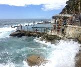 Having a splash on Christmas day. Bond Ocean Pool, Bronte, Sydney